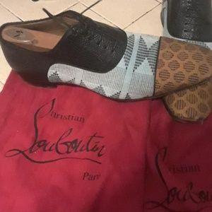 Crocodile Christian louboutin 7.5 shoes